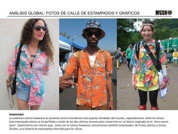 análisis global: fotos de calle de estampados y gráficos