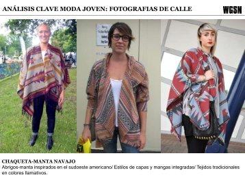 ANÁLISIS CLAVE MODA JOVEN: FOTOGRAFIAS DE CALLE