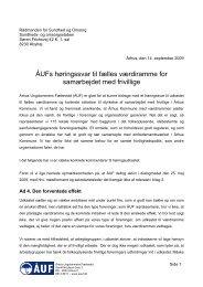 Høringssvar vedr. frivillig værdiramme - Århus Ungdommens ...