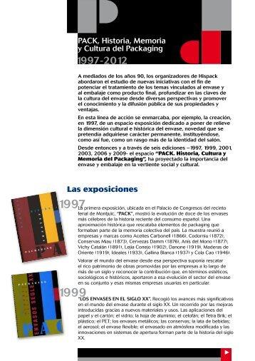PACK, Historia, Memoria y Cultura del Packaging ... - Fira Barcelona