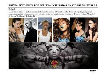 TENDENCIAS DE BELLEZA INSPIRADAS EN VIDEOS MUSICALES