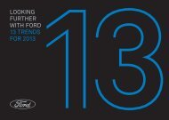 LOOKING FURTHER WITH FORD 13 TRENDS FOR 2013