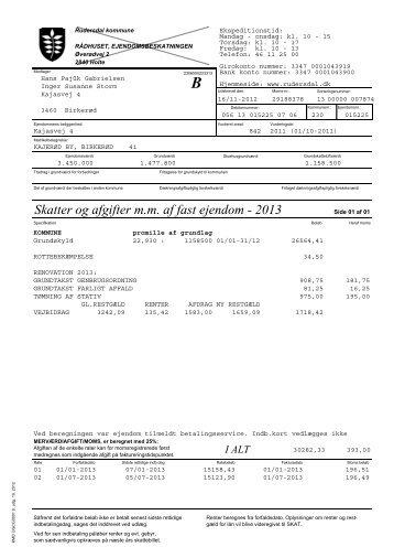 Ejendomsskattebillet 2013