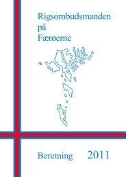 Rigsombudsmanden på Færøerne - Beretning 2011 - Statsministeriet