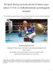 Wii Sports Boxing som fysisk aktivitet til inaktive unge i alderen 13 ...