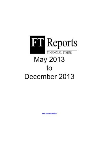 May 2013 to December 2013 - Financial Times - FT.com