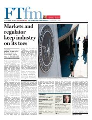 Markets and regulator keep industry on its toes - Financial Times ...