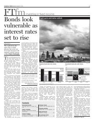 Bonds look vulnerable as interest rates set to rise - Financial Times