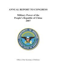 China Military Power Report - United States Department of Defense