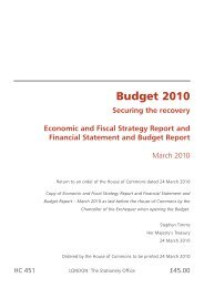 Budget 2010: Securing the Recovery - Gov.uk
