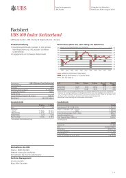 Factsheet UBS 100 Index Switzerland - Fundinfo