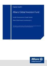 Allianz Global Investors Fund - Allianz Global Investors Lux