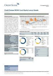 Credit Suisse SICAV (Lux) Equity Luxury Goods ... - fundinfo.com