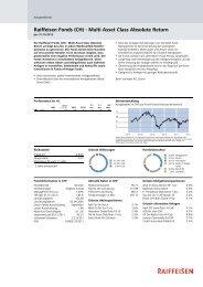 Raiffeisen Fonds (CH) - Multi Asset Class Absolute Return