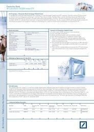 ETF Factsheet - ETFs - Deutsche Bank