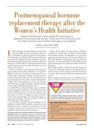 Postmenopausal hormone replacement therapy after the Women's ...