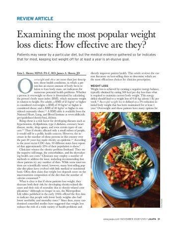 Examining the most popular weight loss diets - Haymarket Media ...