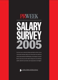2005 Salary Survey - Haymarket Media Group