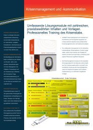 Krisenmanagement und -kommunikation - Business Continuity