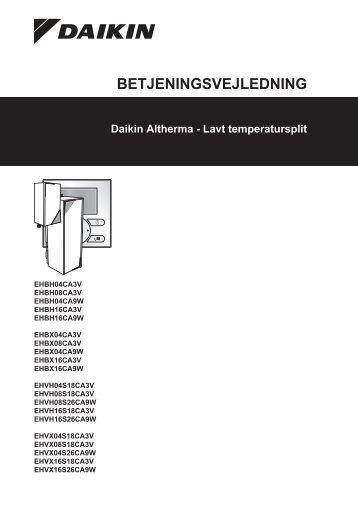 BETJENINGSVEJLEDNING - Daikin