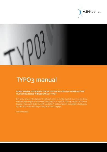 TYPO3 manual - Wildside