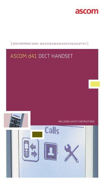 Ascom d41 dect HAndset