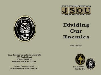 Dividing Our Enemies - Hoover Institution
