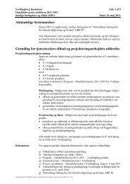 Almindelige bestemmelser Grundlag for tjenesteyders tilbud og ...
