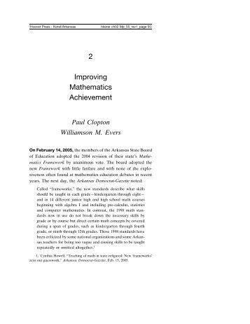 Improving Mathematics Achievement