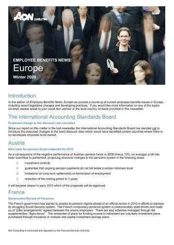 EMPLOYEE BENEFITS NEWS: Europe - Aon