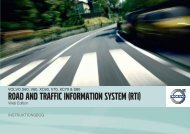ROAD AND TRAFFIC INFORMATION SYSTEM (RTI) - ESD - Volvo