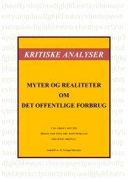 myter og realiter om det offentlige forbrug. - Henrik Herløv Lund