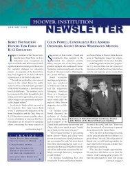 Hoover Institution Newsletter - Spring 2002