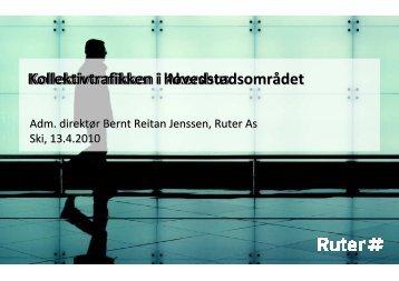 Ski_ Bernt Reitan Jenssen Kollektivtrafikken i hovedstadsområdet