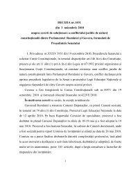 DECIZIA nr.1431 din 3 noiembrie 2010 asupra cererii ... - JURIDICE.ro