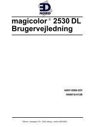 magicolor 2530 DL Brugervejledning - Ednord