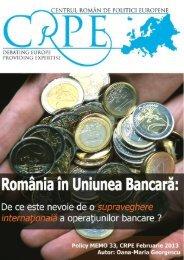 ROMANIA-in-Uniunea-Bancara - Centrul Roman de Politici Europene