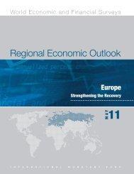 Regional Economic Outlook; Europe: Strengthening the ... - IMF