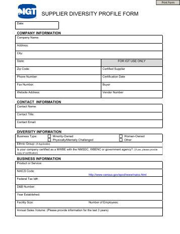 distributor profile template supplier profile form sri international