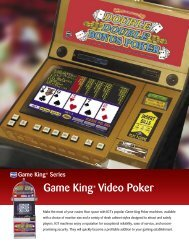 Game King® Video Poker - IGT