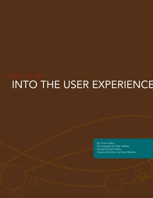 INTO THE USER EXPERIENCE. - IGT.com