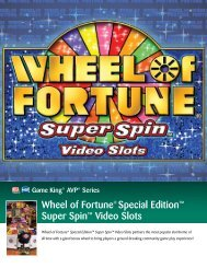 Wheel of Fortune® Special Edition™ Super Spin™ Video ... - IGT.com