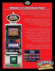 Ultimate 4 of a Kind Bonus Poker Ultimate 4 of a Kind Bonus ... - IGT