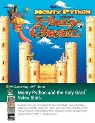 Monty Python and the Holy Grail Video Slots - IGT.com