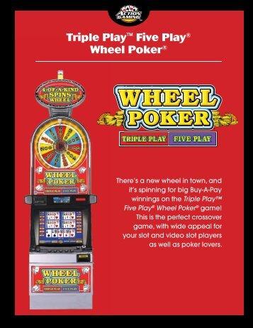Triple Play™ Five Play® Wheel Poker® - IGT.com