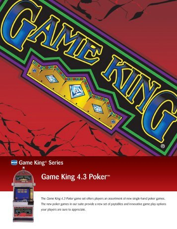 Game King 4.3 Poker™ - IGT