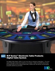 M-P Series™ Electronic Table Products Digital Table System - IGT