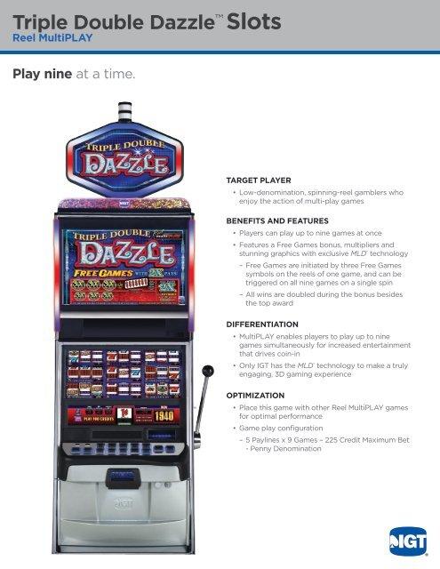 Triple Double Dazzle™ Slots - IGT