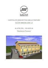 CAPITOLATO DESCRITTIVO DELLE FINITURE - Immobiliare.it