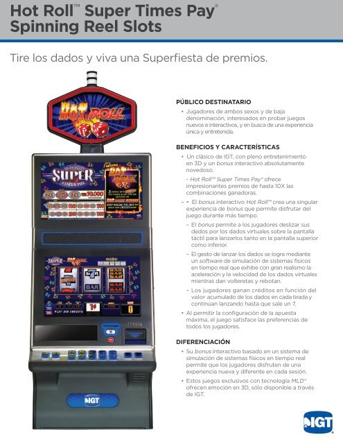 Hot Roll™ Super Times Pay® Spinning Reel Slots